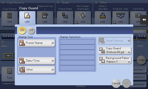 Copy Guard | Descriptions of Functions / Utility Keys