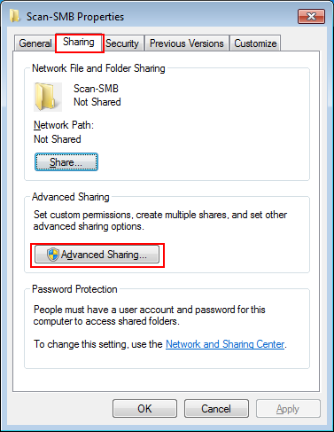 Scanner: Using Scan to SMB with Windows Shared Folder